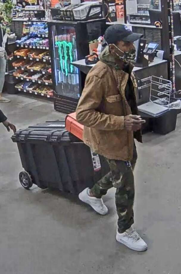 Norwalk police say they are looking for a man who stole items from the Connecticut Avenue Home Depot last week. Photo: Norwalk Police Department / Contributed Photo