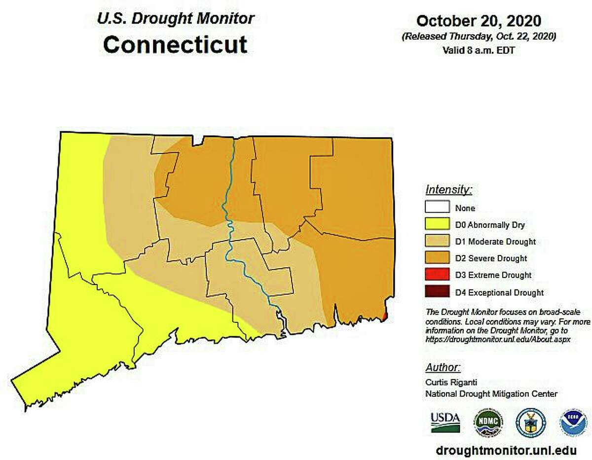 Through rainfall is still well below average for the year, Connecticut's abnormally dry and drought conditions have shown a slight improvement over the last week. U.S. Drought Monitor's report released Thursday morning showed most extreme drought conditions have vanished in Connecticut.