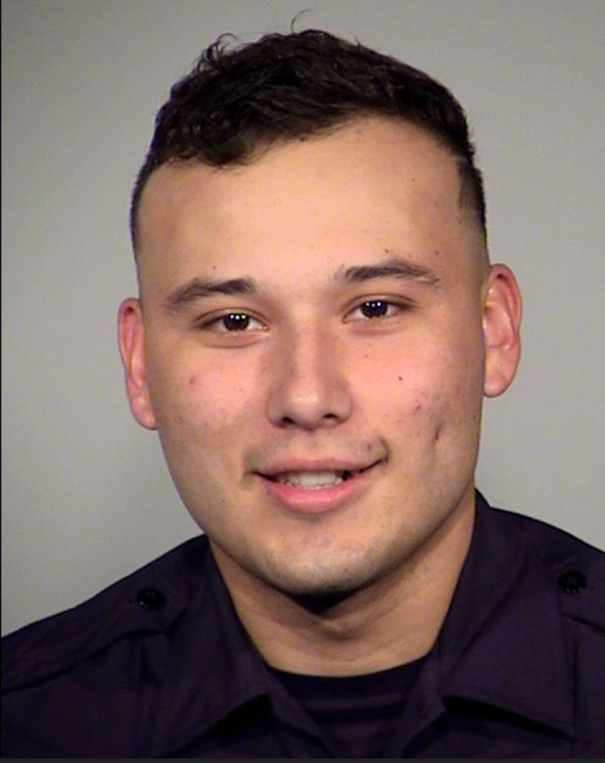 San Antonio Police Officer Rafael Hernandez III, 26, was arrested for suspicion of DWI after he was caught driving 100 mph on Loop 410, SAPD said.