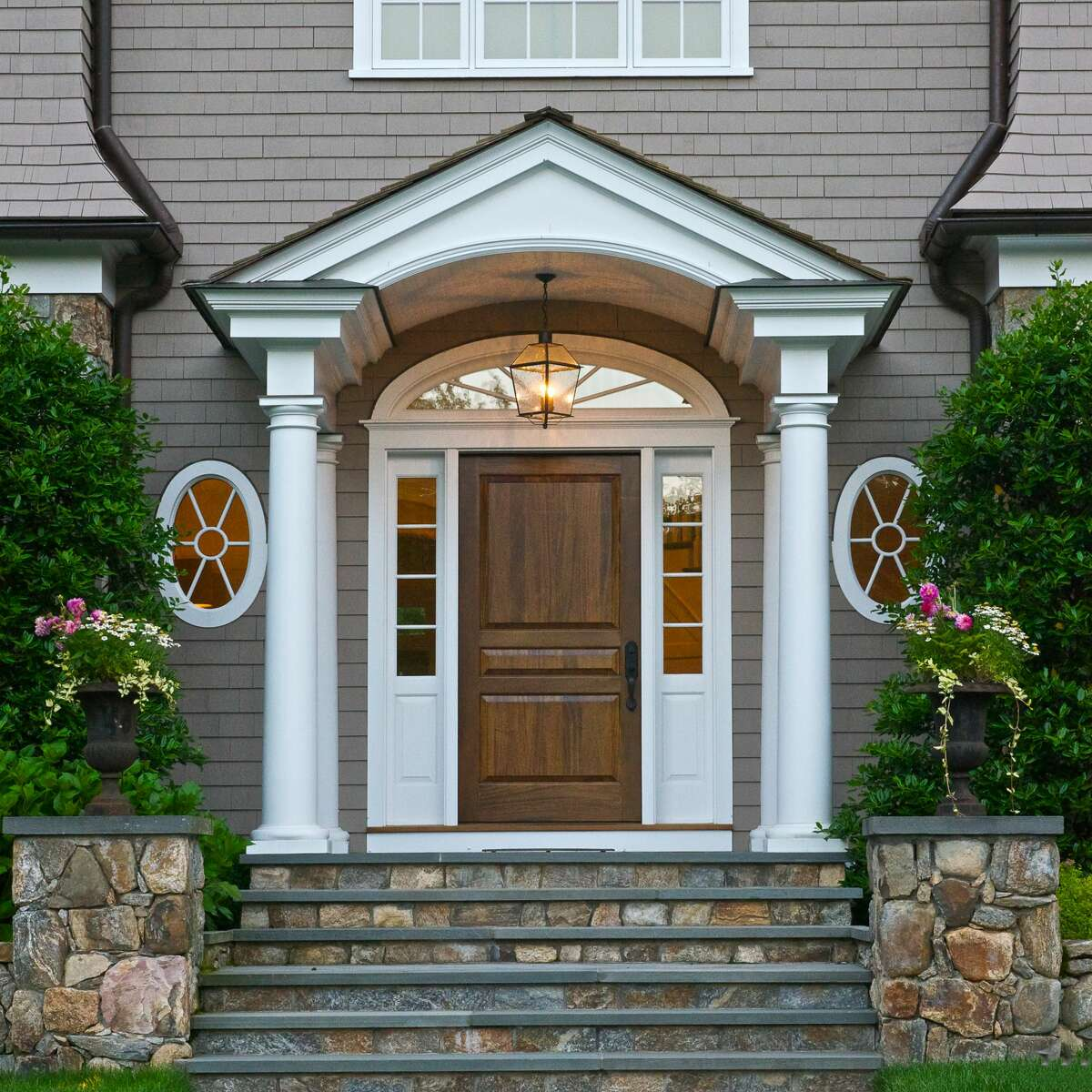 A New England, Shingle-style house in New Canaan. In the past, buyers have often come to New Canaan from the city once they have school age children. But this year, she has noticed that buyers with infants or without any children are accelerating their timetable due to the pandemic.