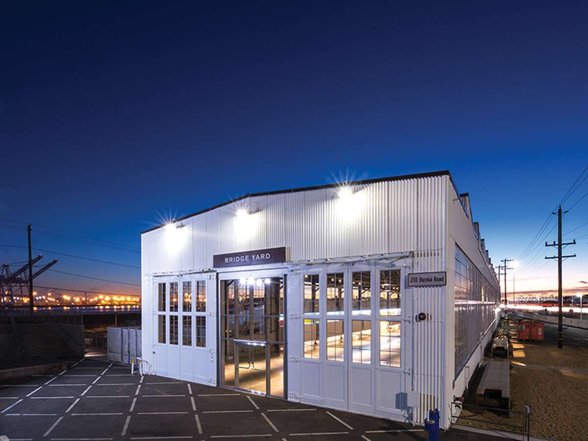 The Judge John Sutter Regional Shoreline includes a 24,000-square-foot former train maintenance building from the 1930s that was renovated to host large events.