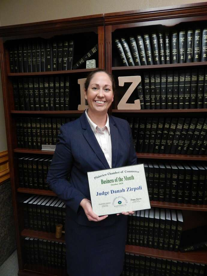 The 64th District Court, which is headed by Judge Danah Zirpoli, was chosen as the October 2020 Business of the Month by the Plainview Chamber of Commerce. Photo: Provided By Plainview Chamber Of Commerce