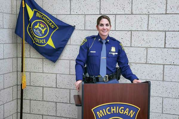 Michigan State Police Lt. Liz Rich looks to use her experience working with communities into her new role as public information officer for MSP Region 3. (Scott Nunn/Huron Daily Tribune)