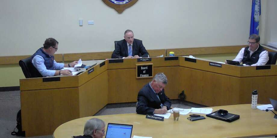 The Board of Finance in Darien met on Tuesday to discuss COVID expenses. Photo: Darien TV79