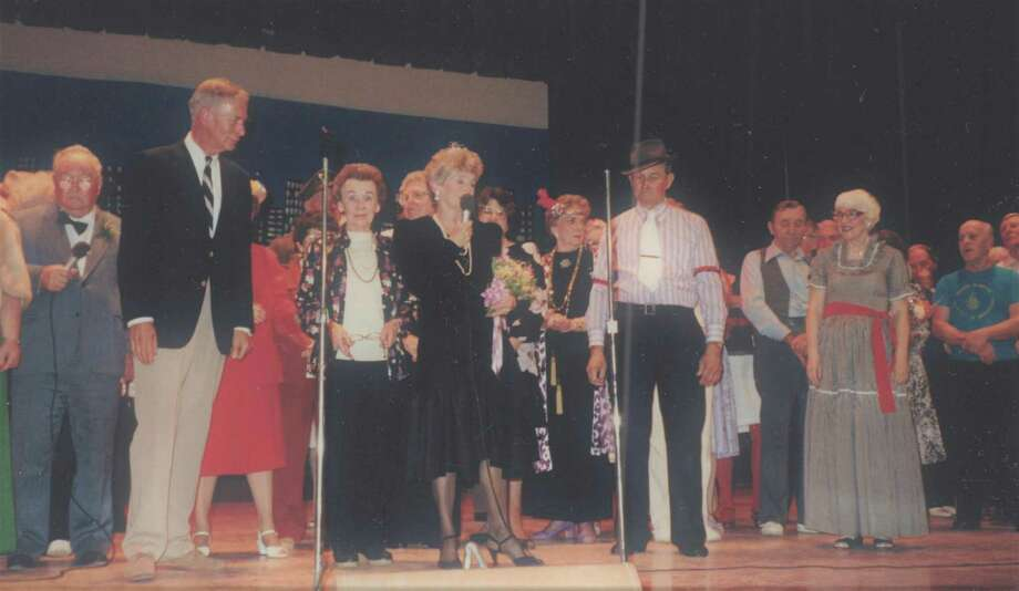 A performance more than 30 years ago at the Milford Center Center. On the left is former Milford Mayor Alan Jepson. The photo is part of a stage show given and performed by members. Photo: Contributed /