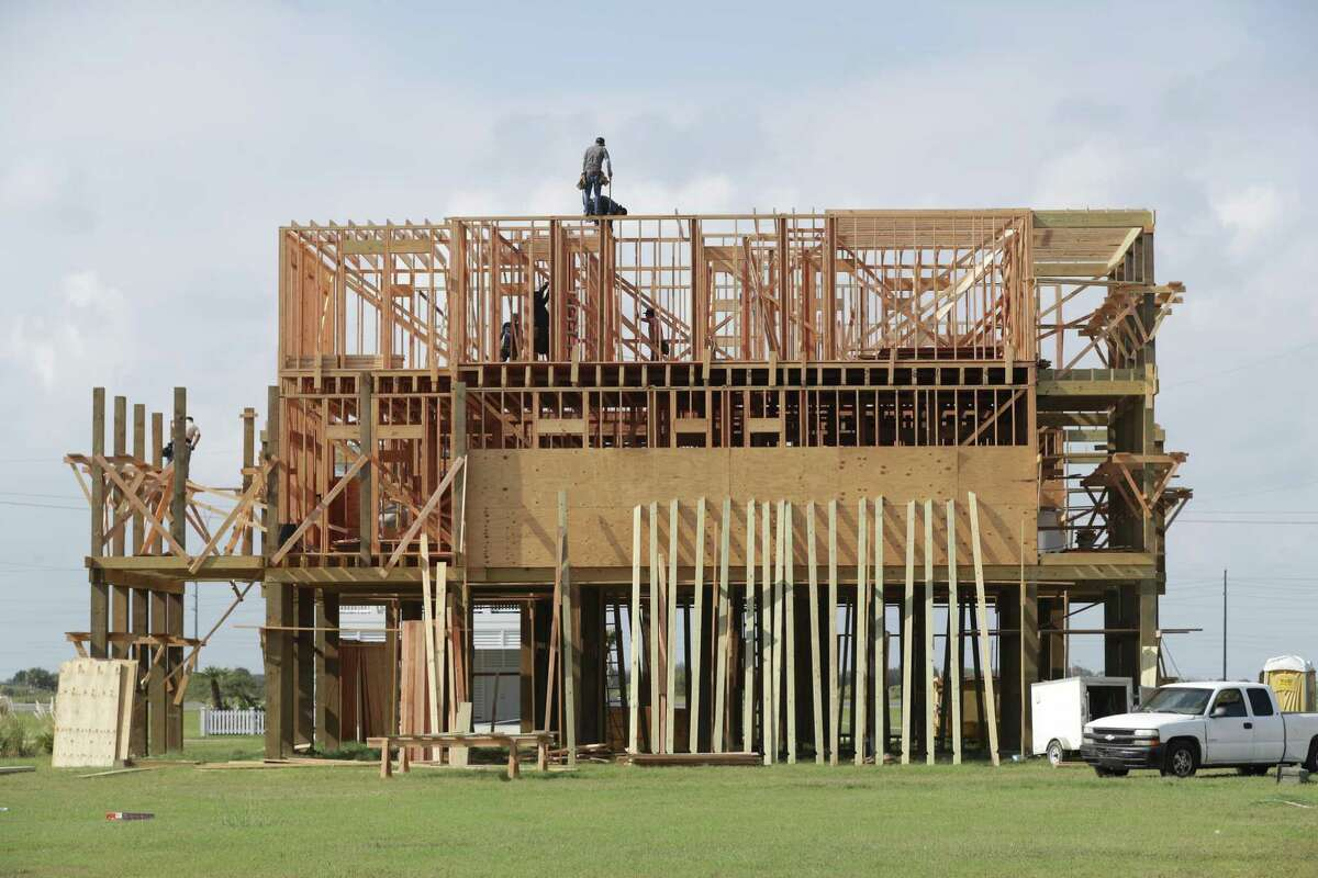 New construction in Beachside Village along west beach Saturday, Oct. 17, 2020, in Galveston.