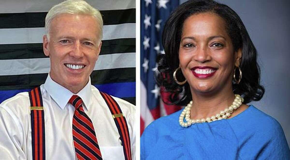 David X. Sullivan and U.S. Rep. Jahana Hayes