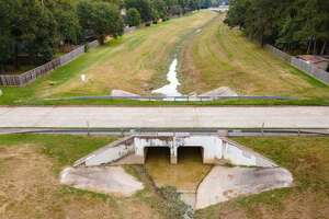 The Kingwood Drainage Analysis highlighted nine potential improvements in the five waterways that include Bens Branch, Kingwood Diversion Ditch, Taylor Gully, Green Tree Ditch and the unnamed Flood Control District Unit G103-33-01. Pictured here is the Rusting Elms bridge over Taylor Gully.