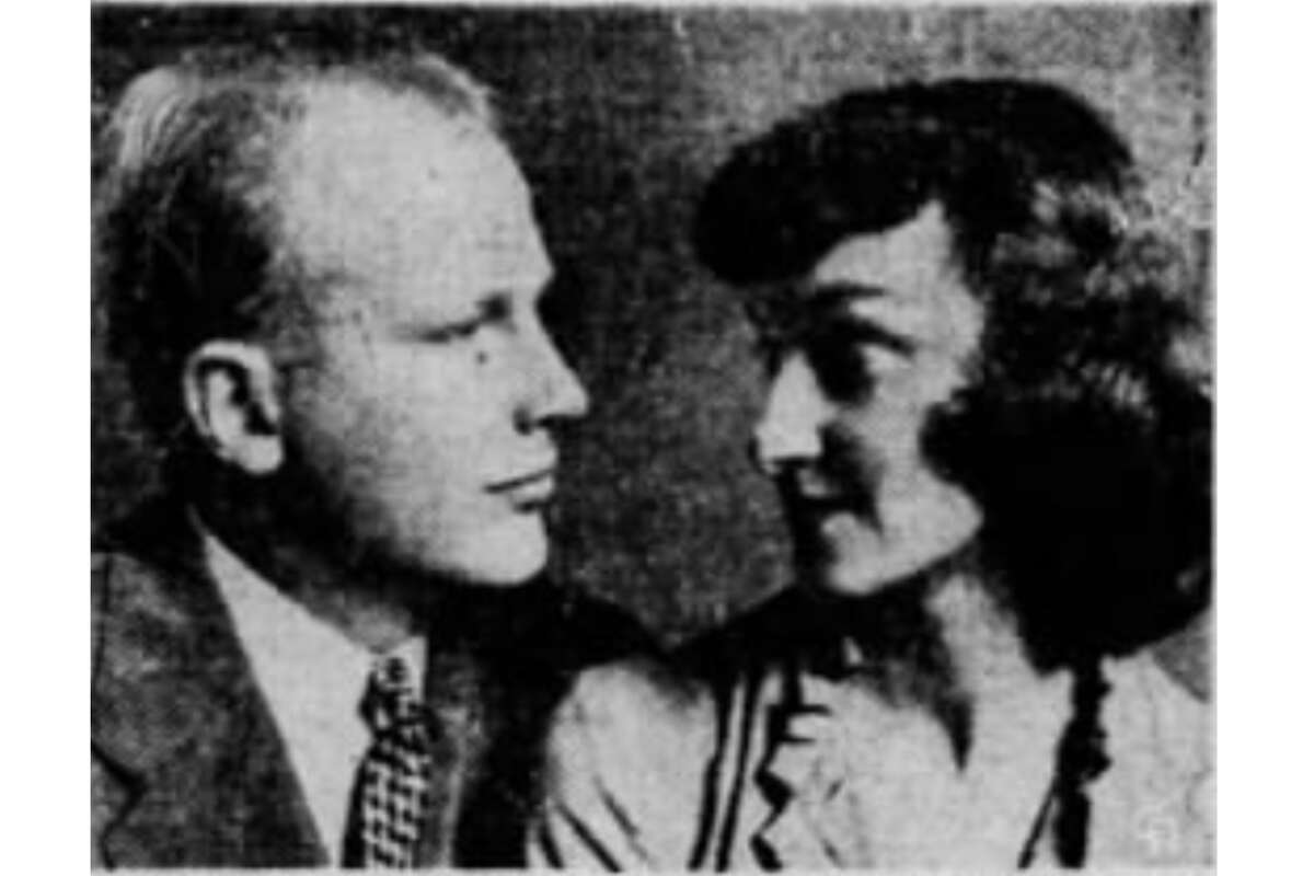 A portrait of William and Marie Twitchell that ran in newspapers nationwide after his tragic death in 1953.