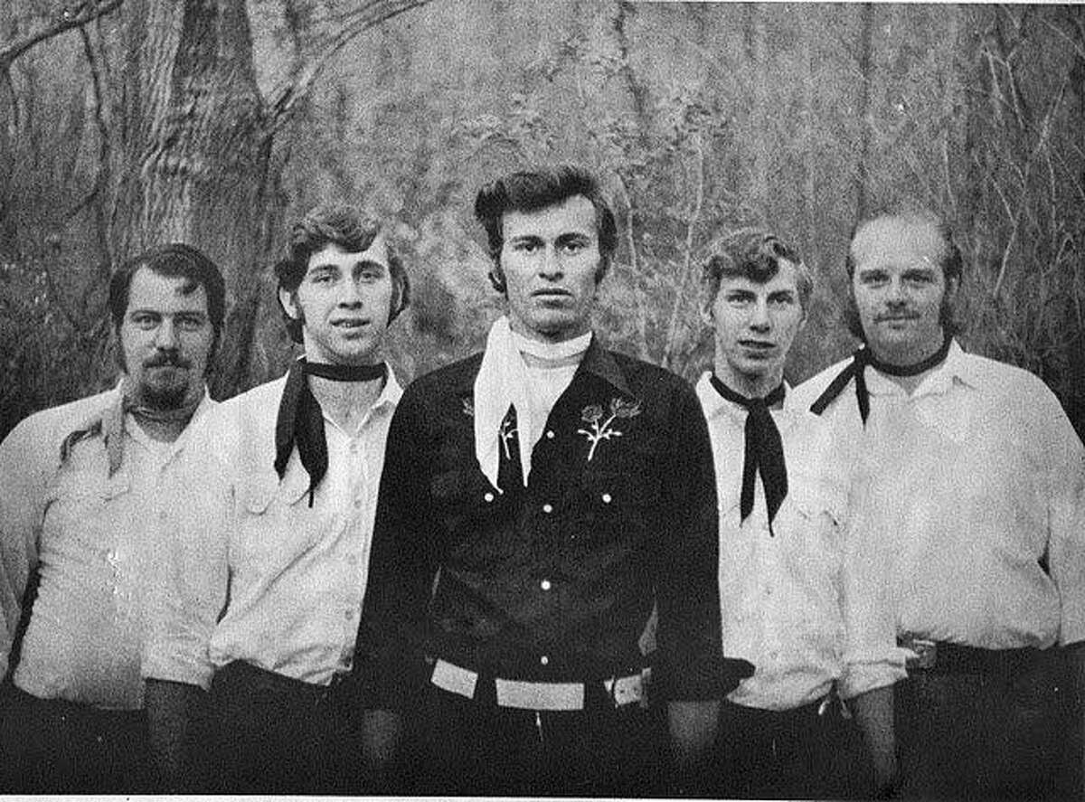 Spectrum/The band Buck Edwards and the Buckshots is celebrating its 50th anniversary this month. The band, formed in 1970, is shown above the year it came together. Original band members are, from left to right, Chuck Truesdell on steel guitar, Harry Williams on bass and vocals, Buck Edwards on guitar and vocals, Allan Rapp on drums and Doug Travers on lead guitar and vocals.