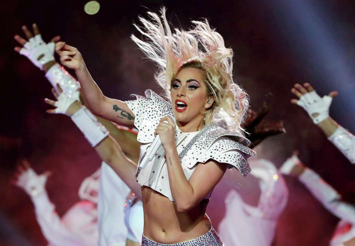 Lady Gaga performs during the halftime show of the NFL Super Bowl 51 football game between the Atlanta Falcons and the New England Patriots in 2017.