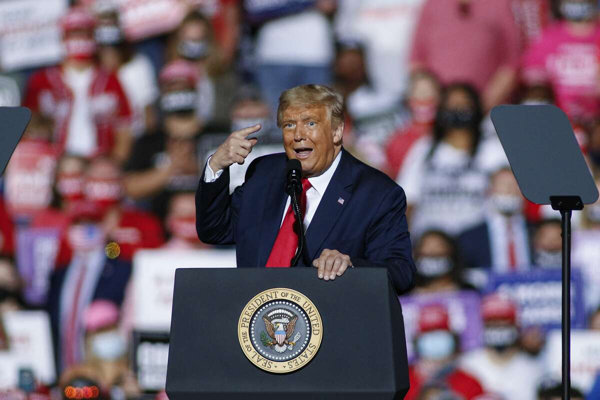 President Trump rallies for a second term in Gastonia, N.C., on Wednesday.