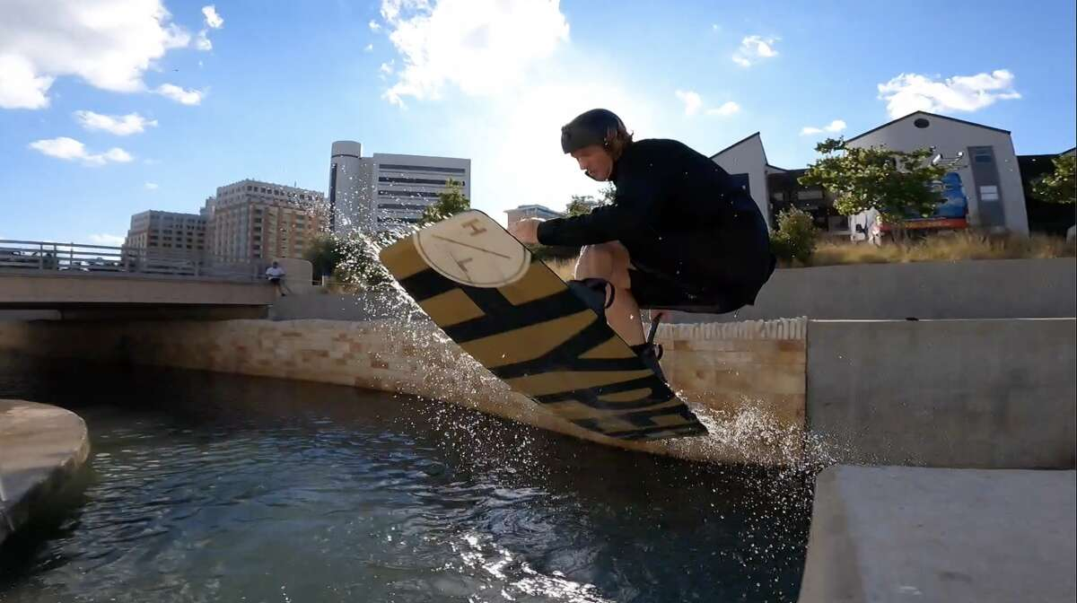 Earlier this month, a New Braunfels professional wakeboarder and his friends shocked crowds downtown by performing tricks and jumping off damns along the San Antonio River.