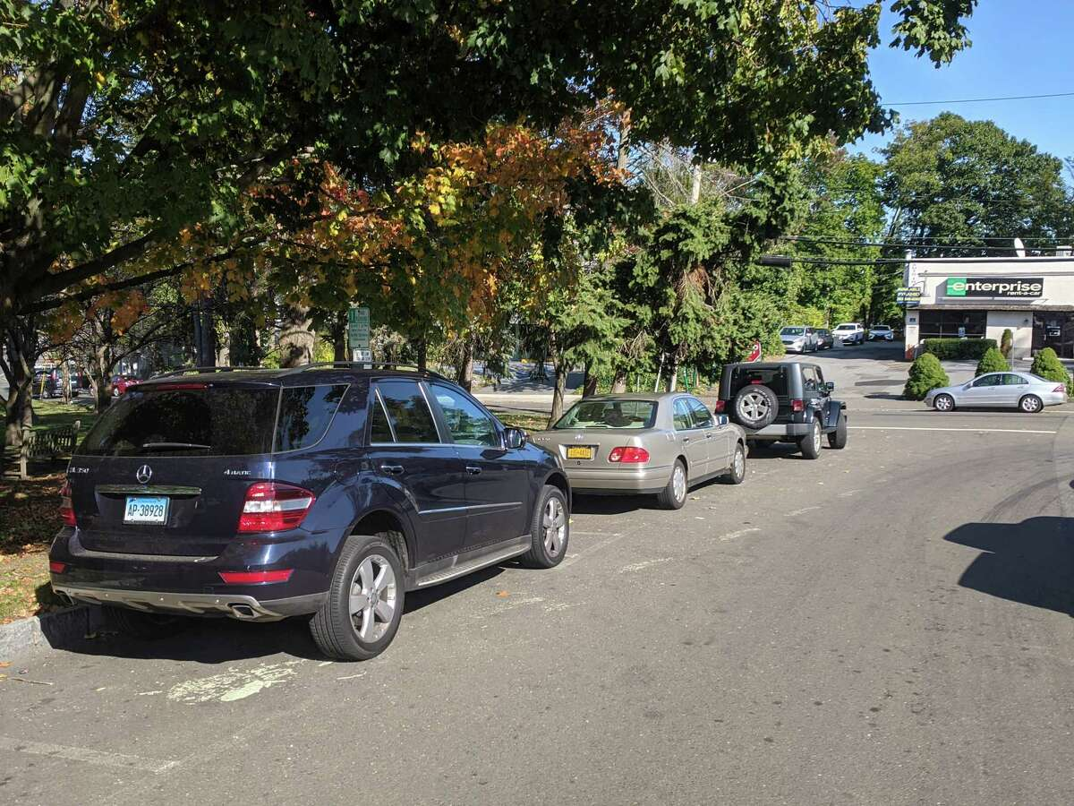 A new loading and unloading zone along Edgewood Avenue is considered unlikely and the town is hoping it can work with auto dealerships along the Post Road to settle the issues that are concerning residents.