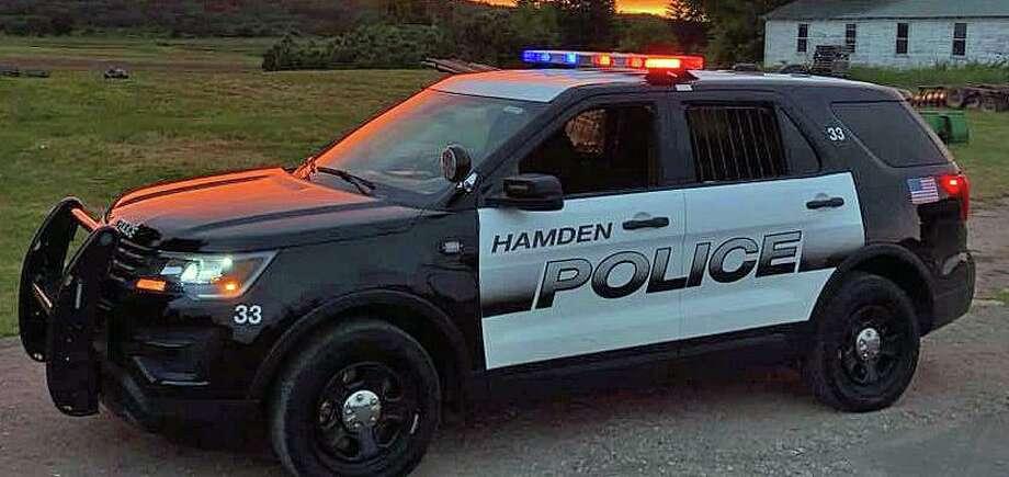 A file photo of a Hamden, Conn., police cruiser. Photo: Contributed Photo / Hamden Police Department