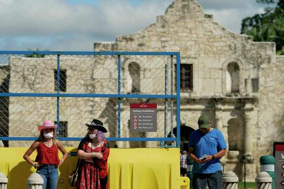Visitors leave the Alamo in September. A reader bemoans more discussions about changing the site.
