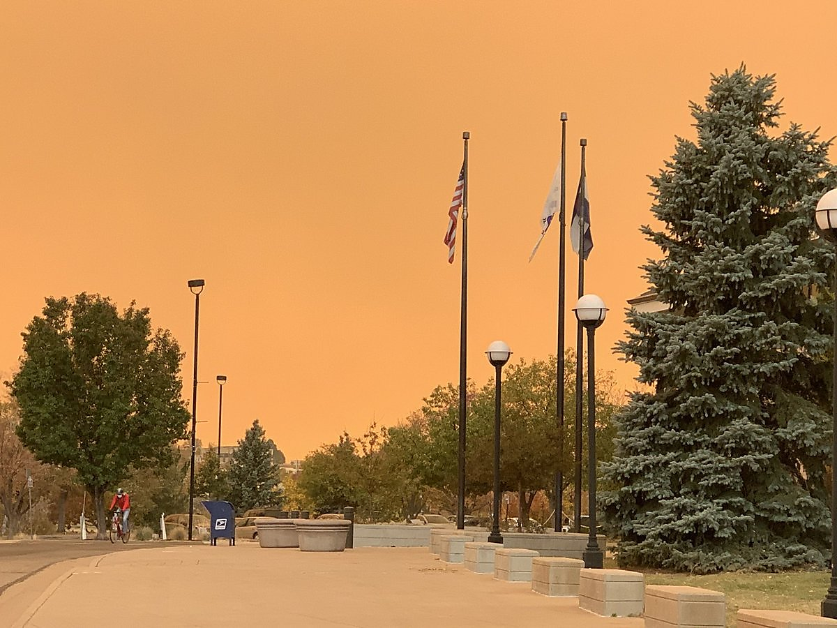 The foreboding orange skies are back - but this time in Colorado, not the Bay Area
