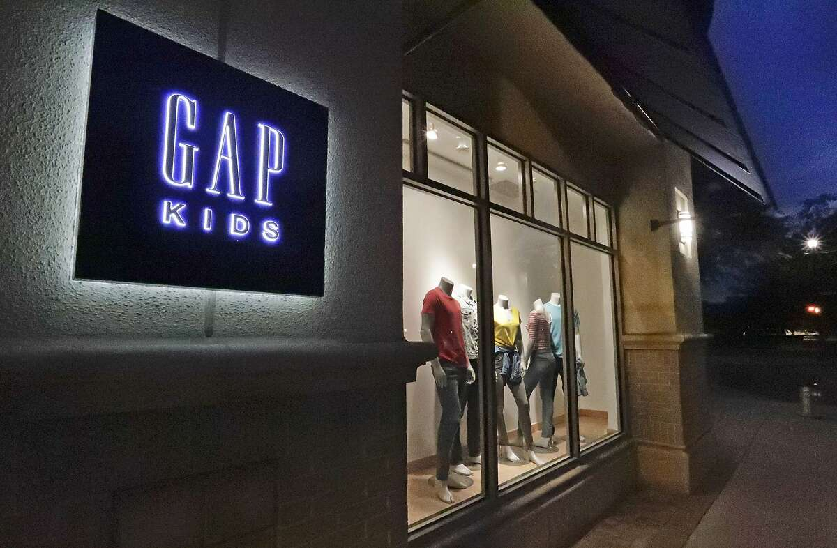 A window display at a Gap Kids clothing store Aug. 23, 2018, in Winter Park, Fla. Gap tweeted, then deleted, an apparent response to the Nov. 3, 2020, election on Wednesday.