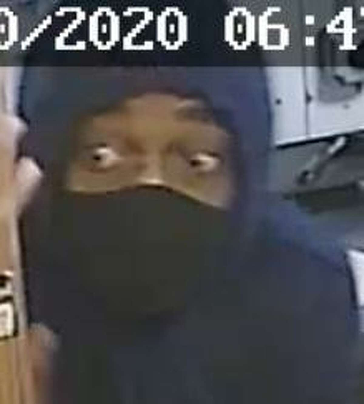 Police say this is one of the suspects involved in a recent armed robbery in Ansonia, Conn., on Tuesday, Oct. 20, 2020.
