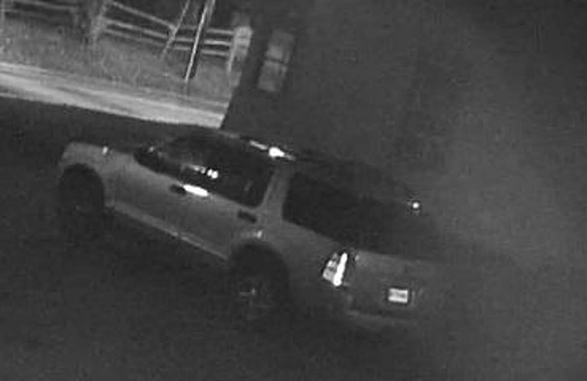 Police say this is the vehicle linked to a recent armed robbery in Ansonia, Conn., on Tuesday, Oct. 20, 2020.