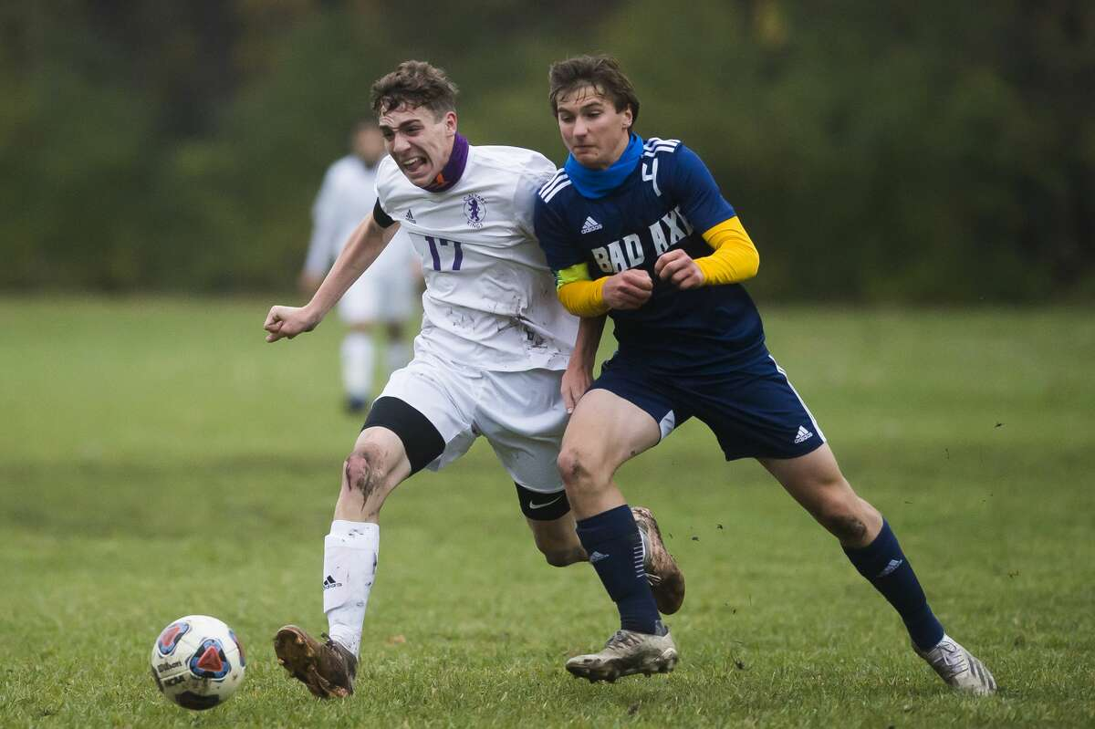 Bad Axe boys soccer team captain Nick Errer was one of 10 student-athletes from Class C and D members selected to receive scholarships through the MHSAA/Farm Bureau Insurance Scholar-Athlete Award program.