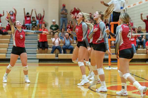 The Lady Bobcats Volleyball team of Orangefield High School hosted the Lady Cardinals of Bridge City on Tuesday night. Photo made on October 06, 2020. Fran Ruchalski/The Enterprise