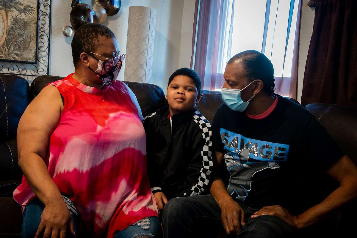 Joan and Tony Thomas are struggling to engage their 9-year-old grandson, Royal Holyfield, in his studies, but he is learning very little through distance education and spends most of his time staring at screens.