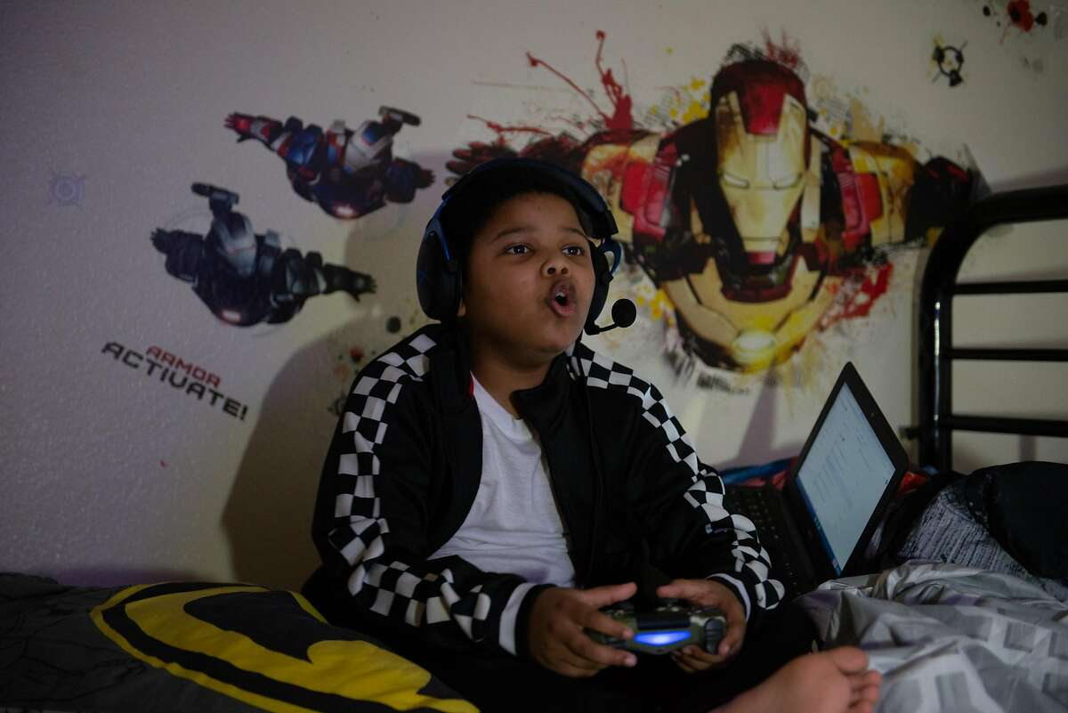 Royal Holyfield loves to play video games in his room, but his grandmother wants to see him more engaged in his education.