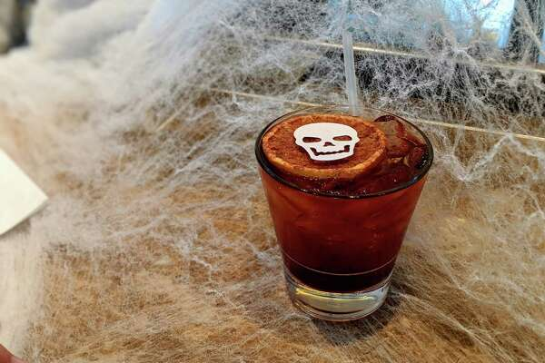Brennan's of Houston is celebrating Halloween with a Booze & Boos promotion that includes theme cocktails such as Haunted Graveyard.