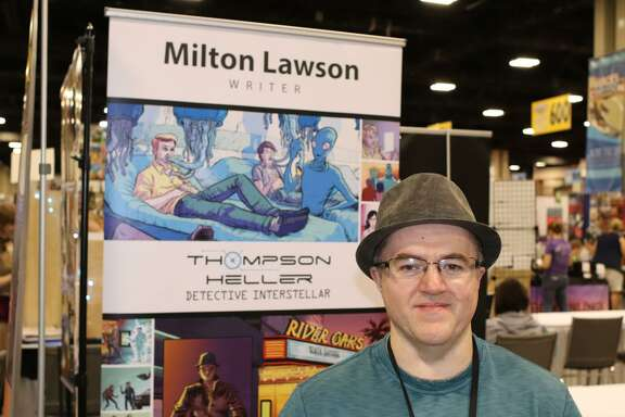 Houston comic-book author Milton Lawson
