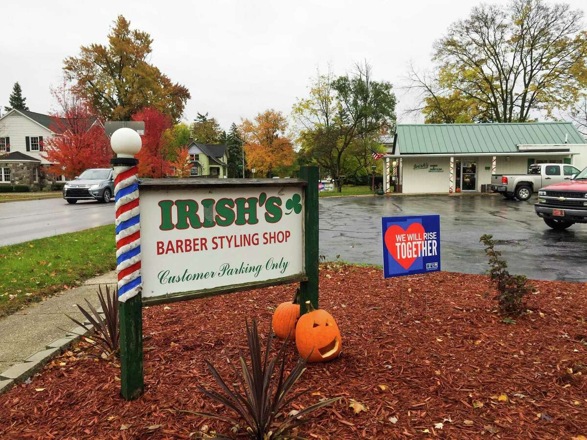If you drive by Irish's Barber Shop, see the United Way