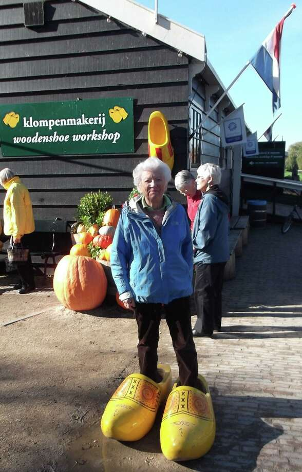 Long-time Darien resident Joan Davis is retiring from the Representative Town Meeting after 34 years. Davis has written articles about her world travel, including this trip to the Netherlands. Photo: Contributed Photo