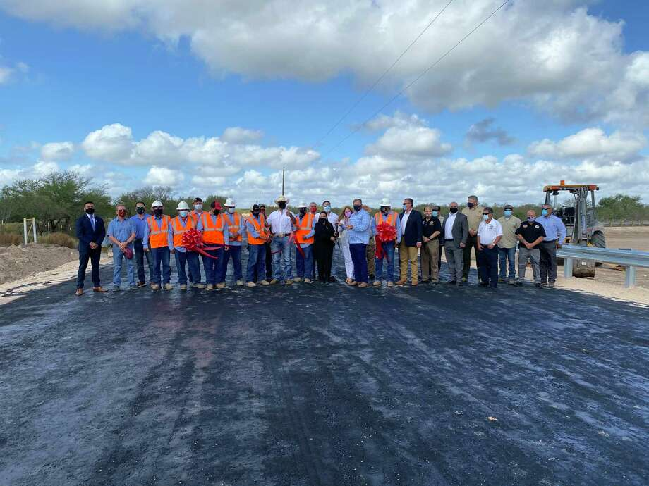 A ribbon cutting was held to celebrate the completion of two drainage canals by the Webb County Road and Bridge Department. Photo: Courtesy /Webb County