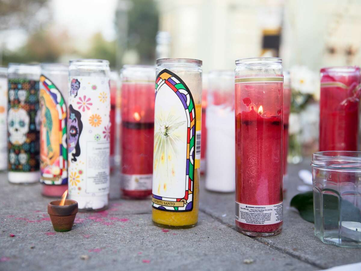 A memorial for Sereinat'e Henderson on Prince Street in Berkeley, Calif. on Oct. 23, 2020.