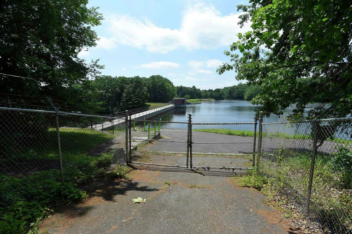A view of the North Stamford Reservoir on June 23 as Connecticut headed into the dry summer season. All of the state now in October is experiencing drought conditions, though to varying degrees.