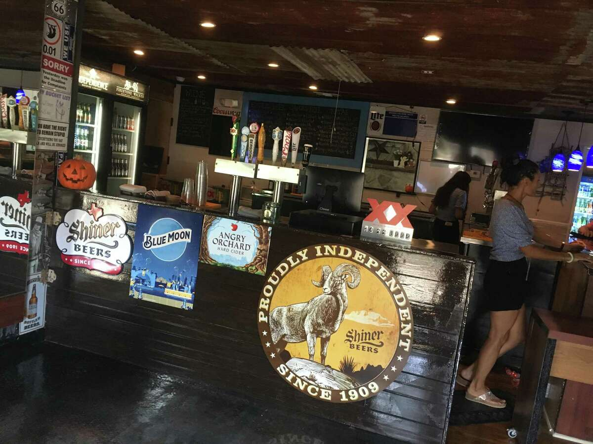 The interior bar and ice cream space at The Divide, a new bar and food truck parkon San Antonio's Northwest Side.