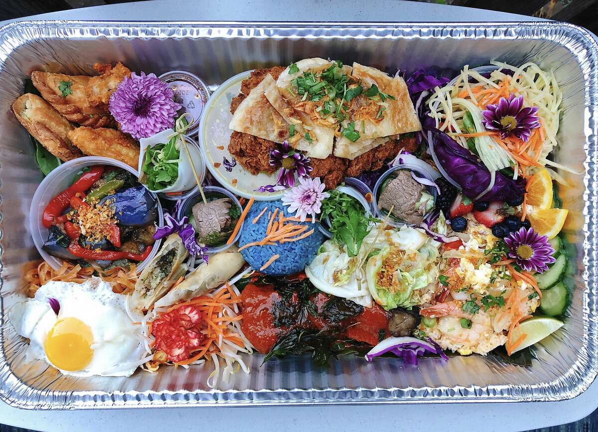 The Little Lao platter from Farmhouse Thai Kitchen in San Francisco.
