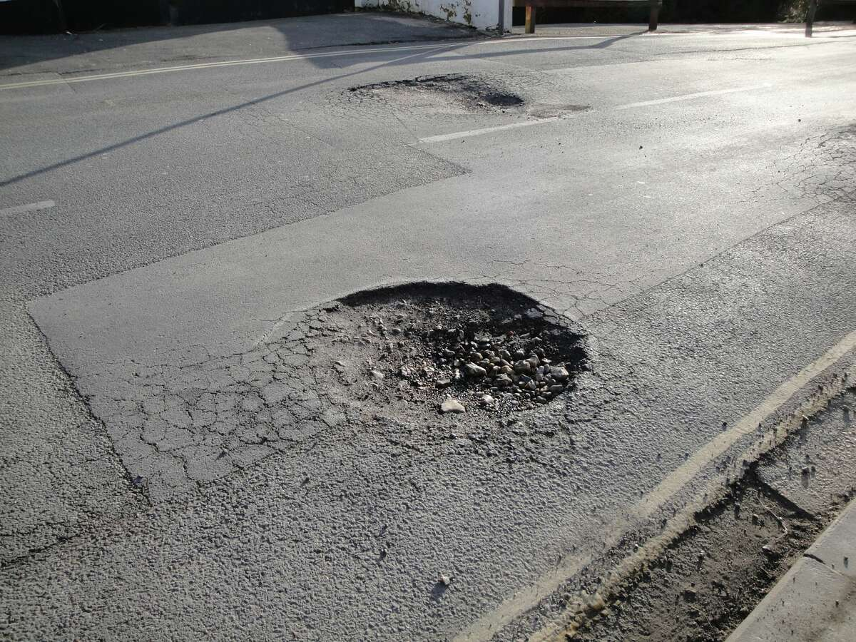 This isn't even one of the worst potholes on TC Jester!