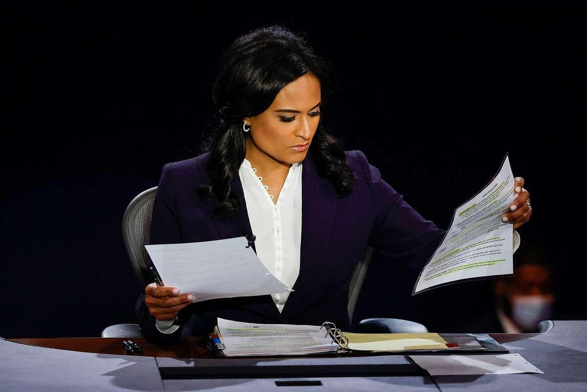 NBC correspondent Kristen Welker moderates Thursday night's debate between President Trump and Joe Biden in Nashville.