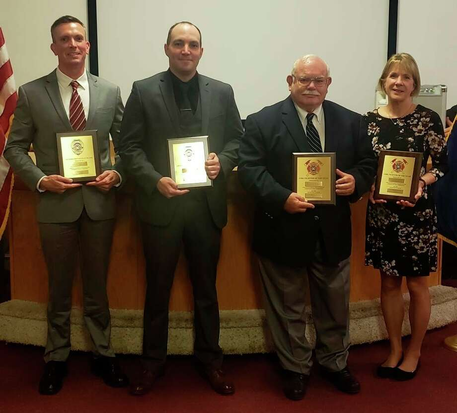 Left to Right is Sheriff Deputy and School Resource Officer Jodye Streeter, City Police Officer Tyler Hollingsworth, Edenville Township Firefighter Richard Ripke andCity of Midland Fire Department Administrative AssistantJulianne Seibert. (Photo provided)