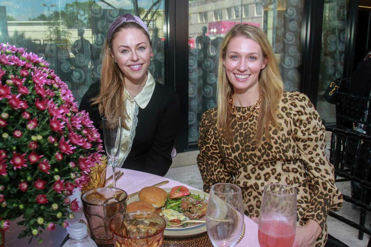 Lexi Sakowitz Marek, left, and Christina Stith at a fall trends brunch hosted by Tootsies