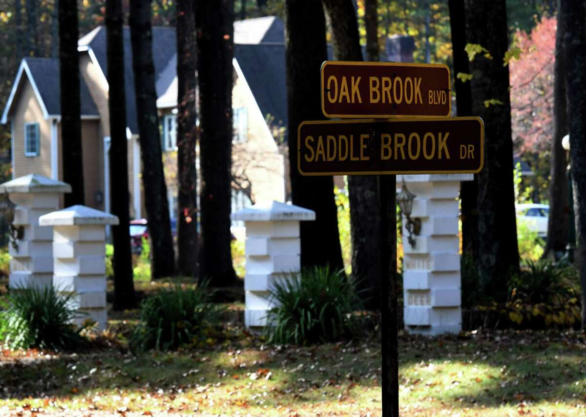 Saddle Brook Drive on Friday, Oct. 23, 2020, in Saratoga Springs, N.Y. Two residents in the Saddle Brook Drive neighborhood say they've complained of dirty water from the city water supply for years. They got it tested and found they have high levels of lead. (Will Waldron/Times Union)