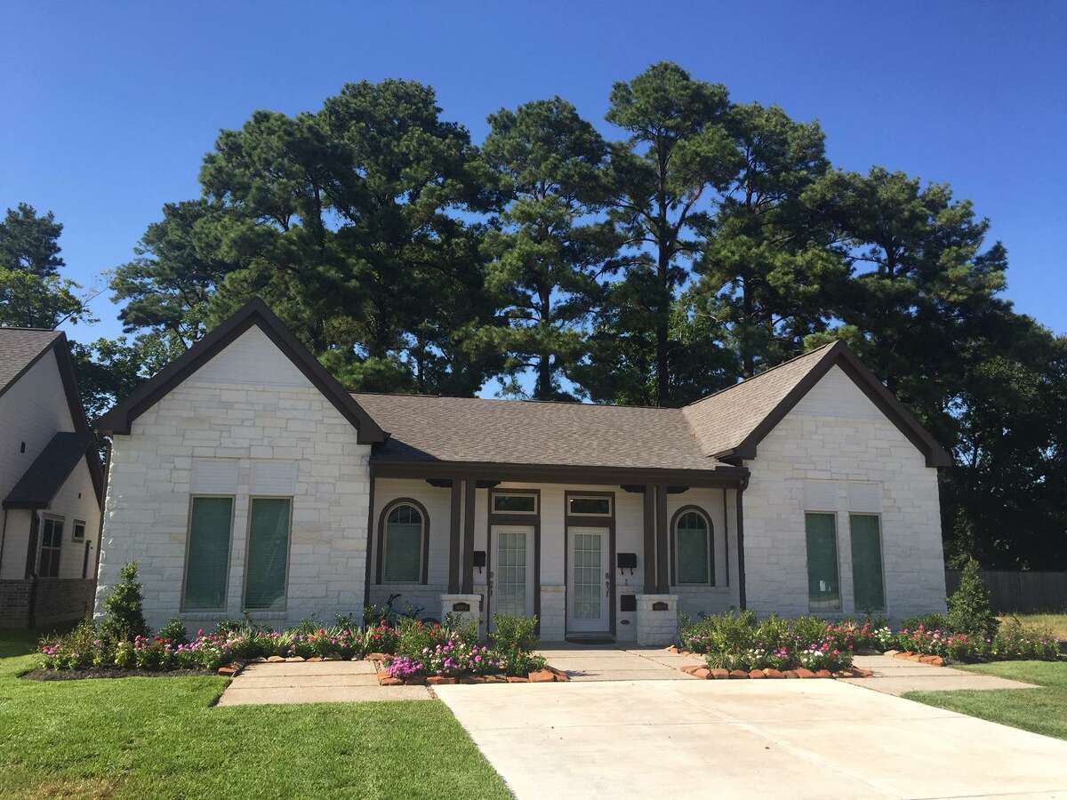 This is one of four duplexes built by HomeAid Houston in partnership with builder captain David Weekley Homes for the campus of Gracewood in the Spring Branch area.