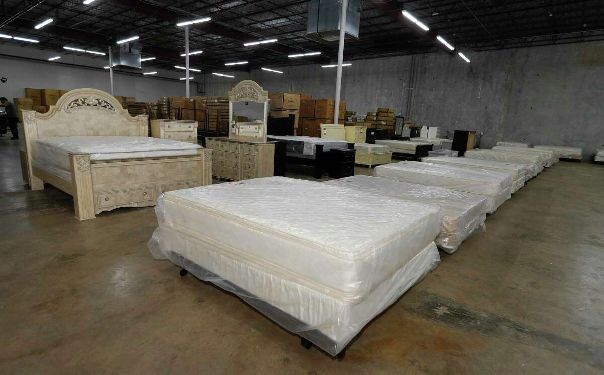 The Houston Furniture Bank's new 50,000 square-foot location on Sawdust Road is seen, Friday, Oct. 23, 2020, in The Woodlands. The organization partners with several non-profits to operates as a furniture outlet, warehouse and helps recycle mattresses.