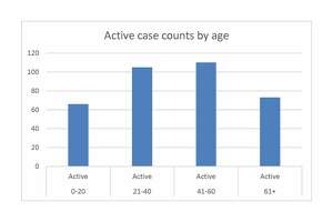 This chart was put together using the latest data released by the Plainview/Hale County Health Department on Oct. 20.