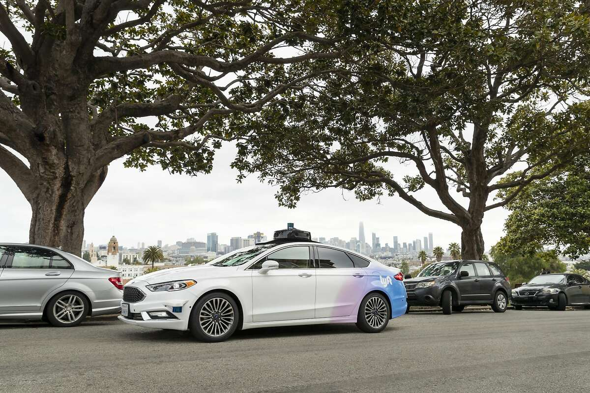 Lyft tests its autonomous vehicles with backup drivers on some specific routes in San Francisco.