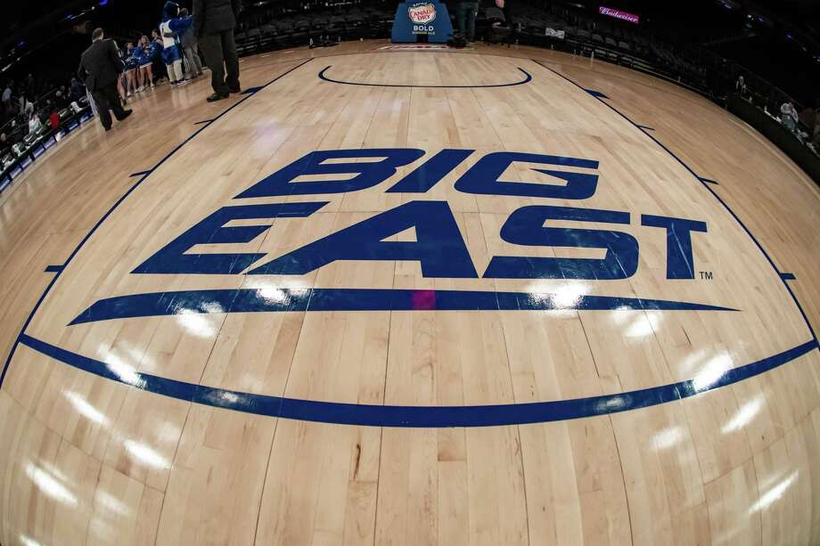 NEW YORK, NY - MARCH 12: General view of the Big East Conference logo during the first half of the Big East tournament quarterfinal round game between the St. Johns Red Storm and Creighton Blue Jays on March 12, 2020 at Madison Square Garden in New York, NY (Photo by John Jones/Icon Sportswire via Getty Images) Photo: Icon Sportswire / Icon Sportswire Via Getty Images / ©Icon Sportswire (A Division of XML Team Solutions) All Rights Reserved