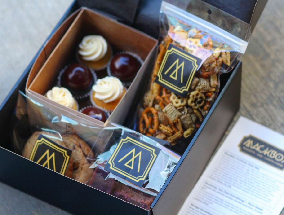 A peek inside a SnackBox from MackBox, featuring Filipino-inspired desserts paired with classic pastry chef training.