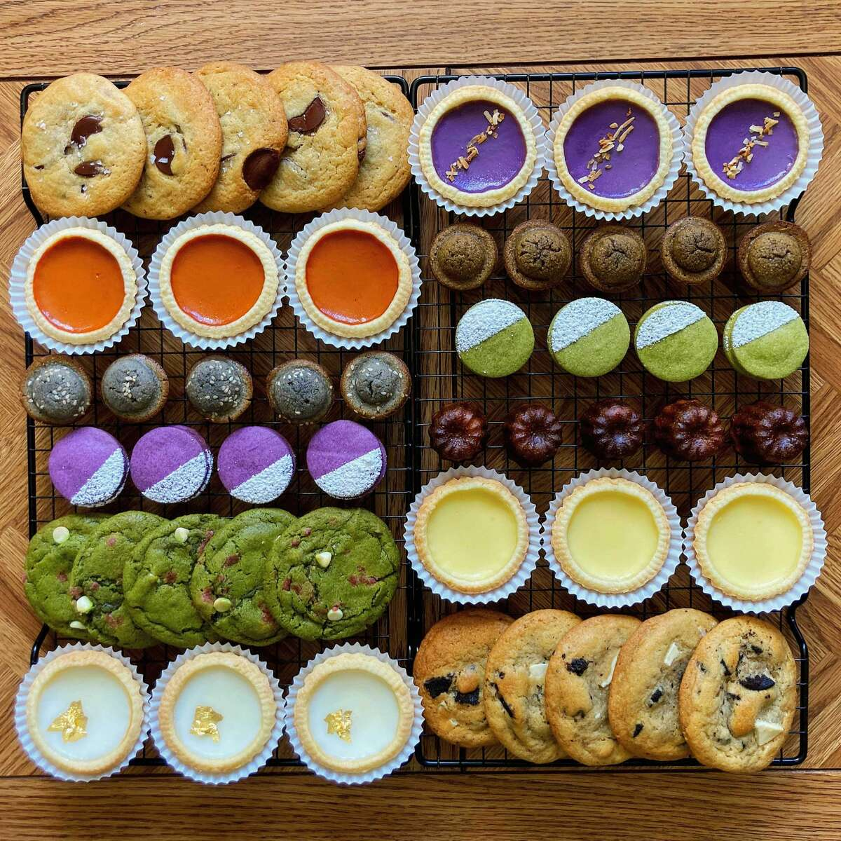 Spoons Patisseries offers a variety of pastries to customers, including caneles, special alfajores cookies and its colorful and special-flavored dan tat.