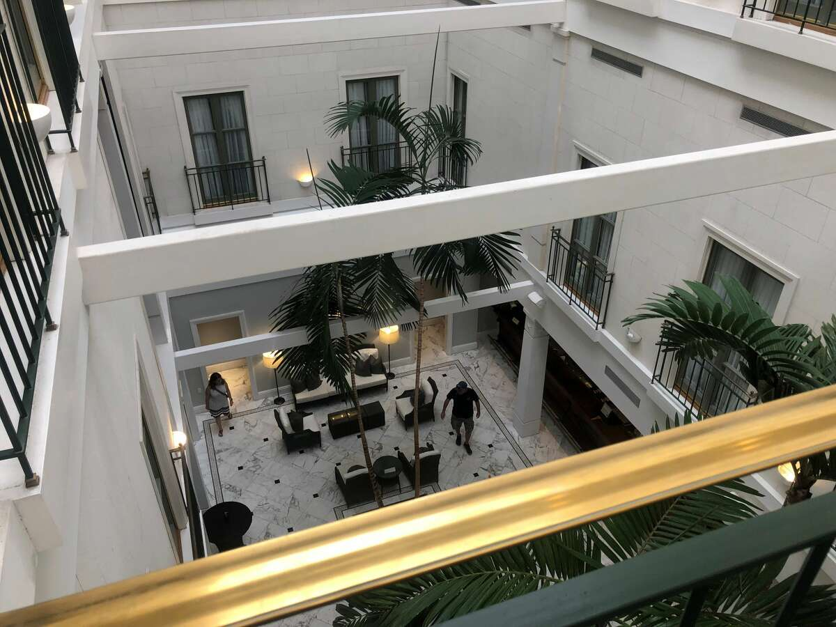 Overlooking the bar area of Tremont House Hotel.